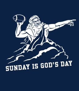 sunday is gods day t shirt Best Funny Football T Shirts