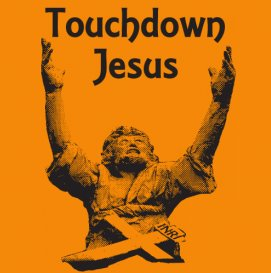 touchdown jesus tshirt.1 Best Funny Football T Shirts