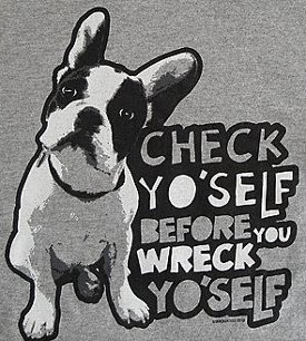 check yo self before you wreck yo self t shirt Due Date T Shirt Sighting at Snicker Tees