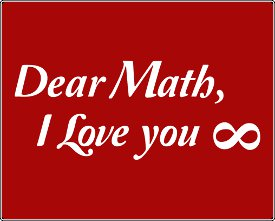 dear math i love you infinity t shirt Dear Math I Love You Infinity T Shirt