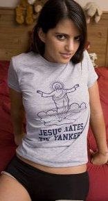 jesus hates the yankees tshirt Jesus Hates the Yankees T Shirt