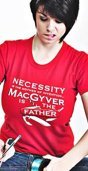 necessity is the mother of invention macgyver is the father t shirt Necessity is the Mother of Invention MacGyver is the Father T Shirt