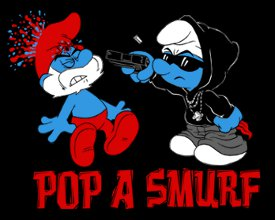 pop a smurf t shirt Pop A Smurf T Shirt