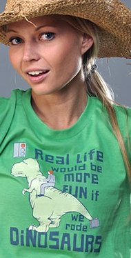 real life would be more fun if we rode dinosaurs t shirt1 Real Life Would Be More Fun If We Rode Dinosaurs T Shirt