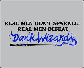 real men dont sparkle real men defeat dark wizards t shirt Funny Harry Potter T Shirts Are Magic