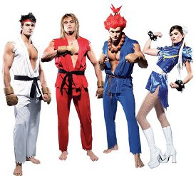 street fighter costumes Halloween, Honey Badger, and Boardwalk Empire Getting Play