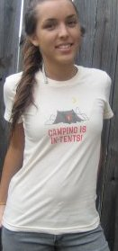 camping is in tents t shirt Camping is In Tents T Shirt