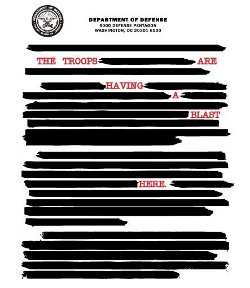 censored message from the troops t shirt Censored Document from the Troops T Shirt
