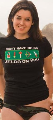 dont make me go zelda on you t shirt Don't Make Me Go Zelda On You T Shirt
