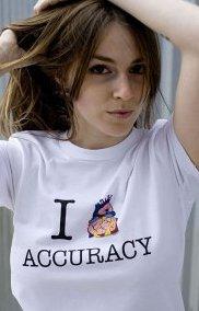 i heart accuracy t shirt I Heart Accuracy T Shirt