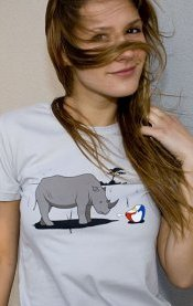 sad rhino t shirt Busted Tees Cyber Monday Sale