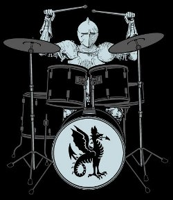 sir knight drummer t shirt Knight Drummer T Shirt