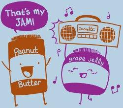 thats my jam peanut butter grape jelly t shirt Peanut Butter and Grape Jelly Thats My Jam T Shirt