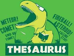 thesaurus dinosaur t shirt Thesaurus Dinosaur T Shirt