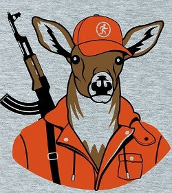 worthy adversary deer rifle t shirt Worthy Adversary Deer with a Rifle T Shirt