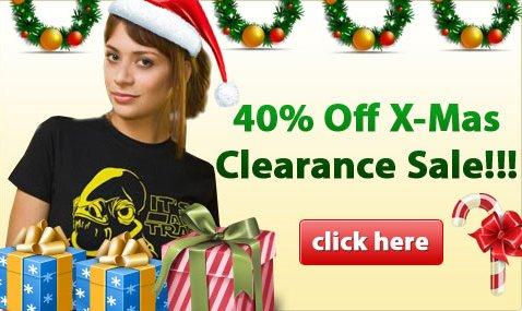 40 percent off x mas sale Nerdy Shirts 40% Off Holiday Sale