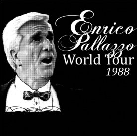 Leslie Nielsen Enrico Pallazzo world tour 1988 t shirt Funny Shirts that Featured Top Stories from 2010