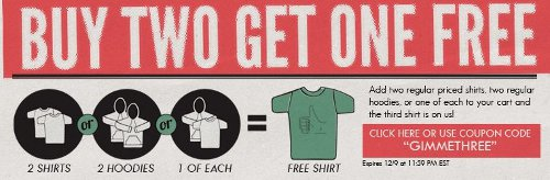 busted tees buy two get one free Busted Tees Buy 2 Get 1 Free Sale