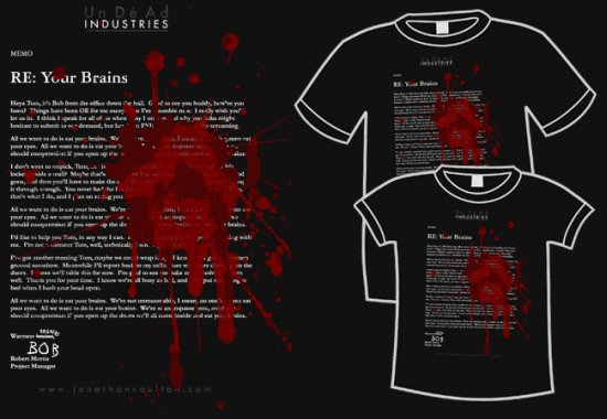 joco rebrains t shirt Zombie T shirts: Get the Undead on Your Chest