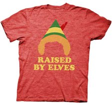 raised by elves t shirt Xmas Tees Added to Collection