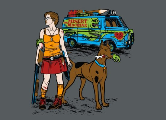 scooby doo the misery machine t shirt Zombie T shirts: Get the Undead on Your Chest