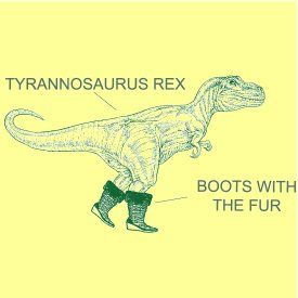 tyrannosaurus rex boots with fur t shirt Funny Dinosaur T Shirts Bring Fear and Laughter