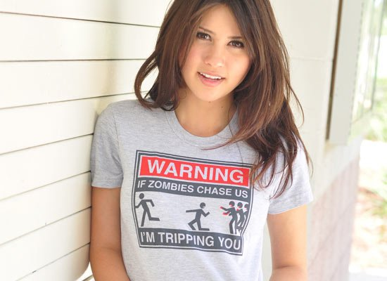 warning if zombies chase us im tripping you t shirt Zombie T shirts: Get the Undead on Your Chest