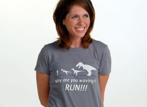 why are you waving run t shirt Funny Dinosaur T Shirts Bring Fear and Laughter