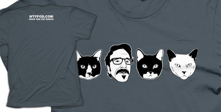 wtf marc maron cat ranch t shirt Marc Maron WTF Cat T Shirt