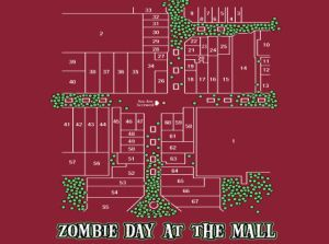 zombie day at the mall Zombie T shirts: Get the Undead on Your Chest