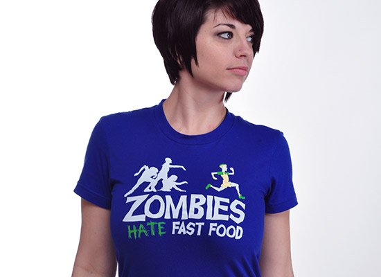 zombies hate fast food t shirt Zombie T shirts: Get the Undead on Your Chest