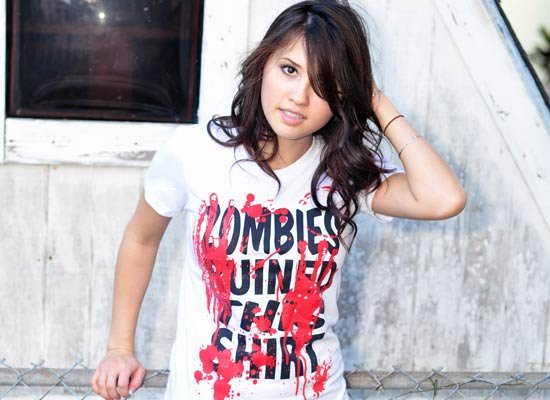 zombies ruined this shirt t shirt Zombie T shirts: Get the Undead on Your Chest