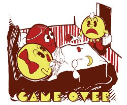 ms pacman cheating game over t shirt Ms. Pacman Caught Cheating Game Over T Shirt