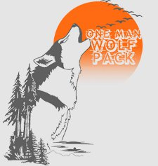 the hangover one man wolf pack t shirt The Hangover One Man Wolfpack T Shirt
