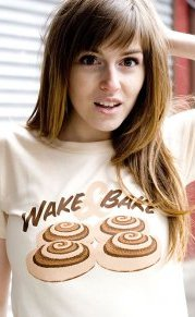 wake and bake t shirt Cinnamon Rolls Wake & Bake T Shirt