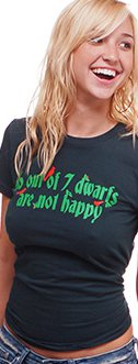 6 out of 7 dwarfs are not happy t shirt 6 Out of 7 Dwarfs Are Not Happy T Shirt