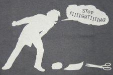 stop fighting rock paper scissors t shirt Wondermark Rock Paper Scissors The Negotiator T Shirt
