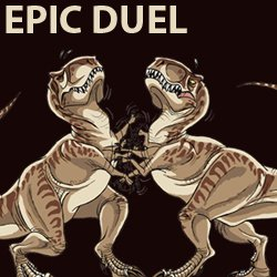 t rex epic duel t shirt Funny Dinosaur T Shirts Bring Fear and Laughter