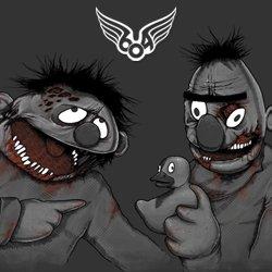 zombie bert and ernie zombert zernie t shirt Sesame Street Zombie Bert and Ernie Zombert & Zernie T Shirt