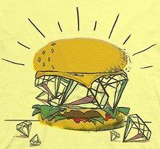 diamond burger t shirt Diamond Burger T Shirt