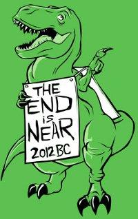 dinosaur the end is near 2012 bc t shirt Dinosaur Sandwich Board The End is Near 2012 BC T Shirt