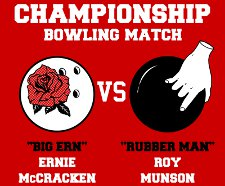 kingpin championship bowling match t shirt Kingpin Championship Bowling Match Big Ern Vs. Rubber Man T shirt