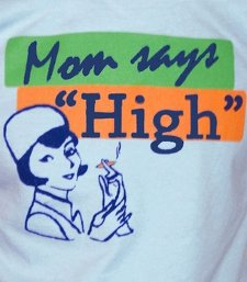 mom says high t shirt Funny Mother Shirts for Mothers Day
