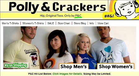 polly and crackers2 Shop Review: Polly & Crackers Tweaks Conventional T Shirtery