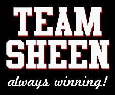 team sheen always winning t shirt Are You Winning Like Charlie Sheen T Shirts