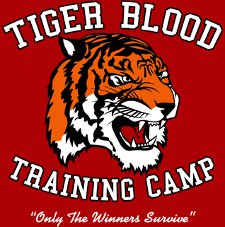 tiger blood training camp only the winners survive t shirt Charlie Sheen Tiger Blood Training Camp T Shirt