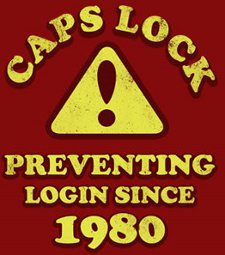 caps lock preventing login since 1980 t shirt Caps Lock Preventing Login Since 1980 T Shirt
