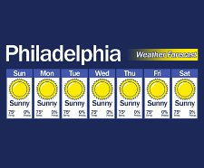 its always sunny in philadelphia t shirt Its Always Sunny in Philadelphia Forecast T Shirt