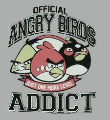 official angry birds addict t shirt Official Angry Birds Addict T Shirt