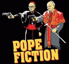 pope fiction t shirt Pulp Fiction Pope Fiction T Shirt